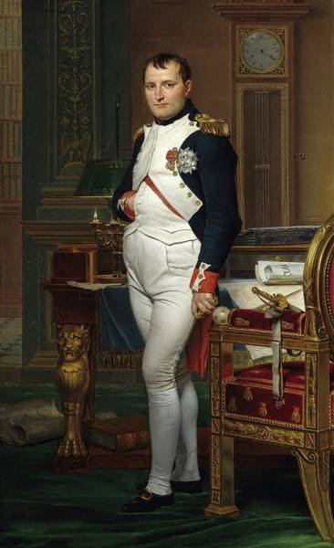 Painting - The Emperor Napoleon In His Study At The Tuileries by Jacques Louis David