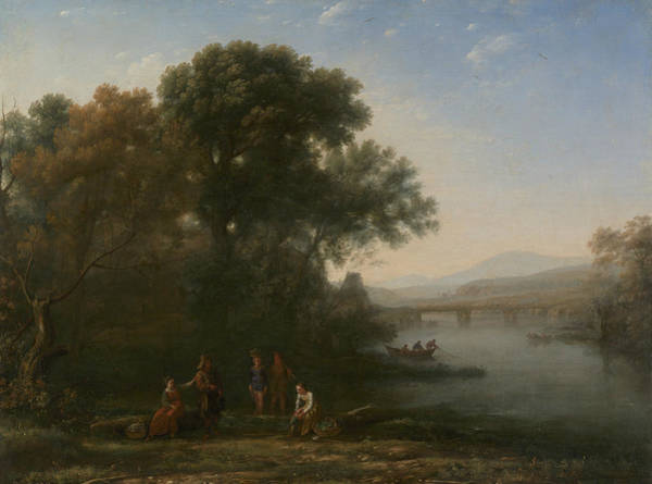 Painting - The Ford by Claude Lorrain