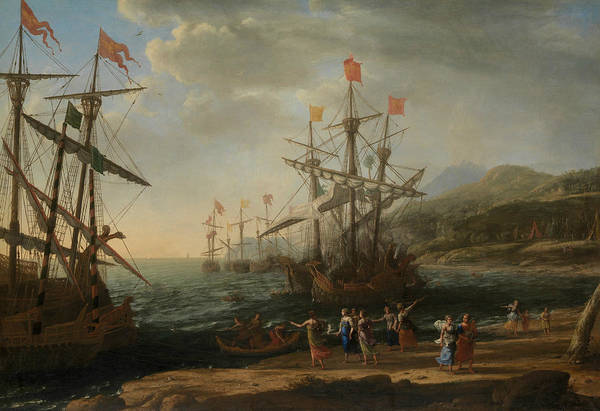 Painting - The Trojan Women Setting Fire To Their Fleet by Claude Lorrain