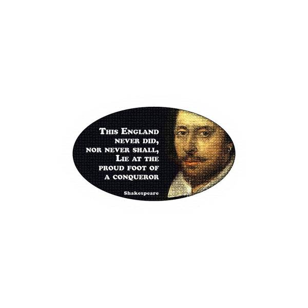 Wall Art - Digital Art - This England Never Did #shakespeare #shakespearequote by TintoDesigns