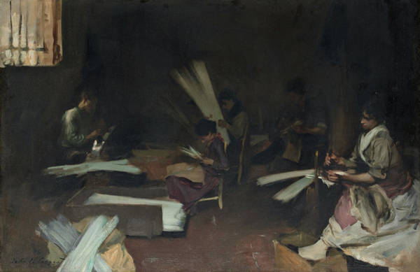 Wall Art - Painting - Venetian Glass Workers by John Singer Sargent