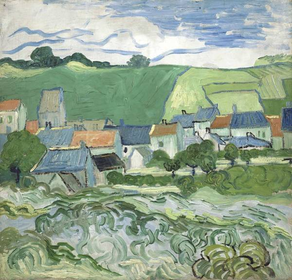 Wall Art - Painting - View Of Auvers by Vincent van Gogh