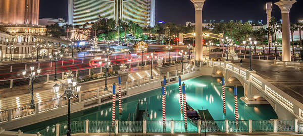 Photograph - View Of The Venetian Hotel Resort And Casino by Alex Grichenko