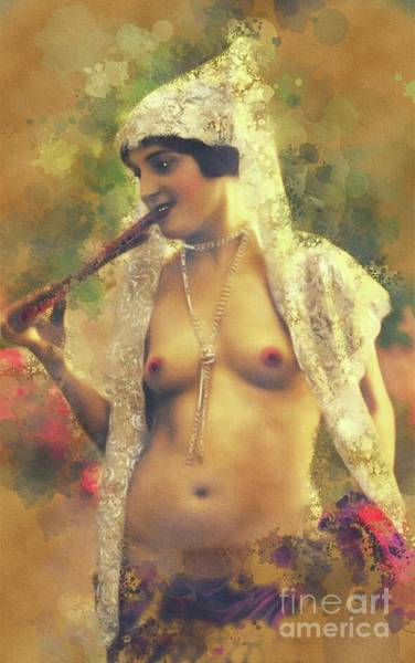 Wall Art - Painting - Vintage Nude By Mary Bassett by Mary Bassett
