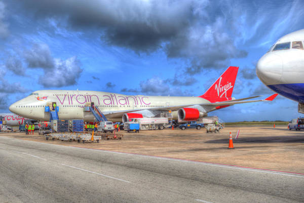 Wall Art - Photograph - Virgin Atlantic Boeing 747 by David Pyatt