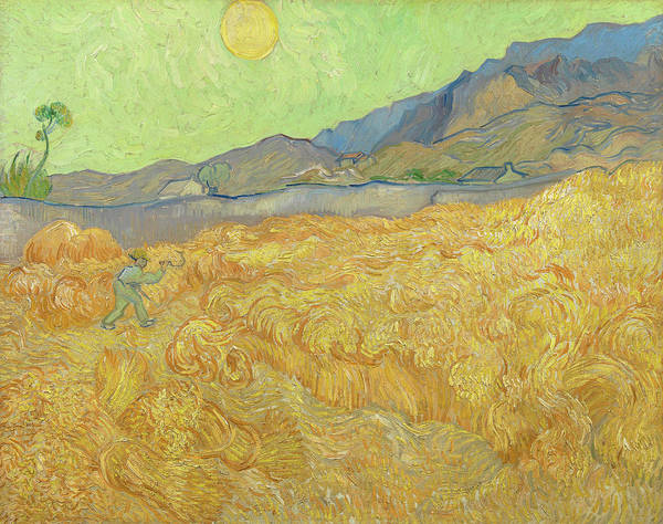 Rural Life Wall Art - Painting - Wheatfield With A Reaper by Vincent Van Gogh