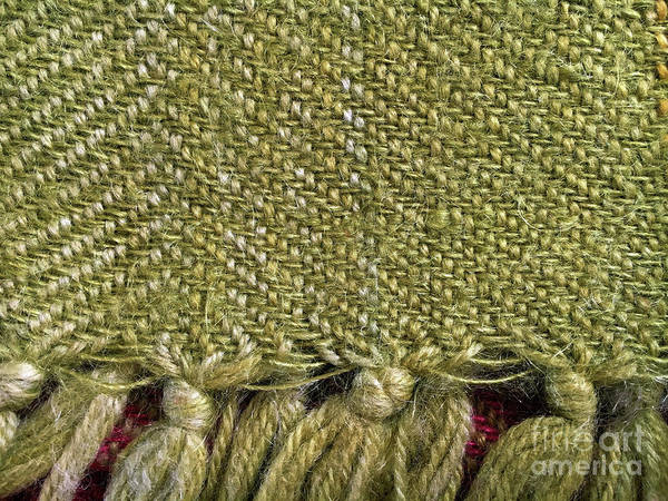 Wall Art - Photograph - Wool Textile Background by Tom Gowanlock