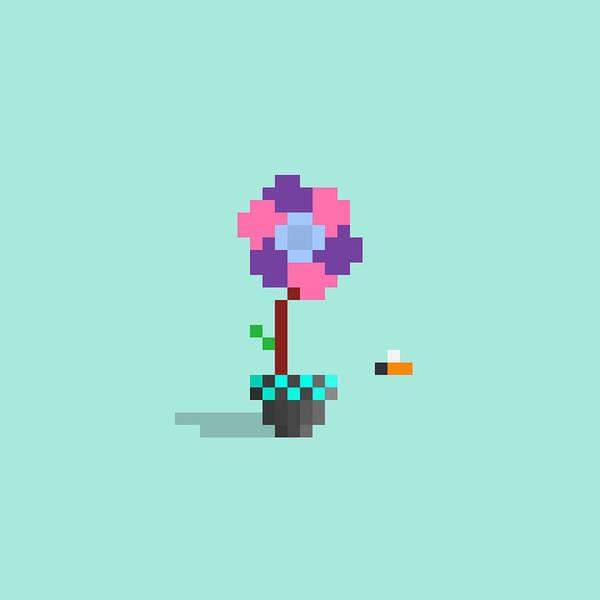 Wall Art - Digital Art - #604 Anika - Pixel.flowers by Roscoe Hart and Adam Oriti