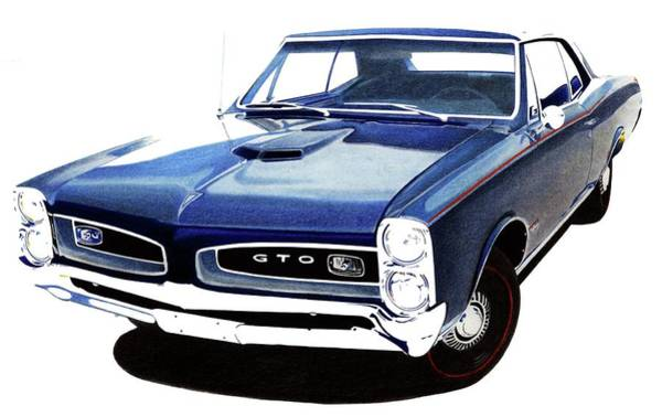 Wall Art - Mixed Media - 66 Gto by Lyle Brown