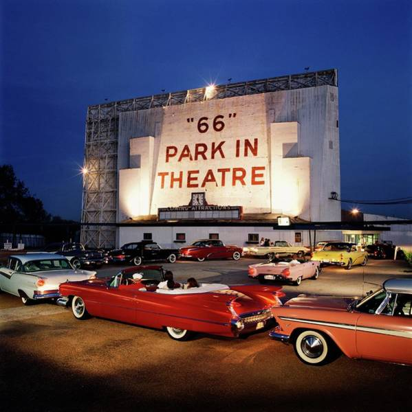 Wall Art - Photograph - 66 Park-in Theater by Car Culture