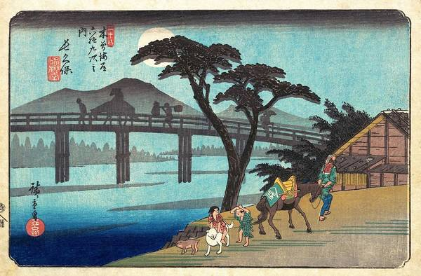 Wall Art - Painting - 69 Stations Of The Kisokaido - Nagakubo by Utagawa Hiroshige