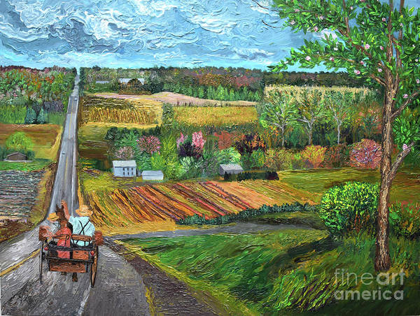 Painting - 6n Between Waterford And Edinboro Pennsylvania by Anne Cameron Cutri