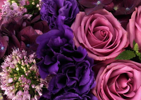 Romance Photograph - A Close-up Of A Bouquet Of Flowers by Nicholas Eveleigh