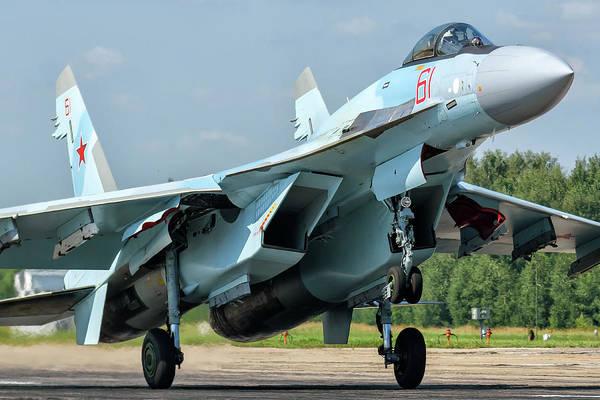 Photograph - A Russian Aerospace Forces Su-35s by Daniele Faccioli