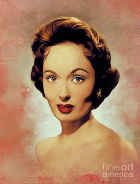 Wall Art - Painting - Ann Blyth, Vintage Actress by John Springfield