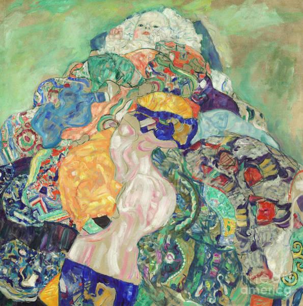Wall Art - Painting - Baby  Cradle by Gustav Klimt