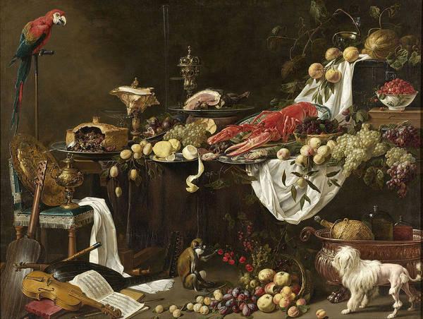 Painting - Banquet Still Life by Adriaen van Utrecht
