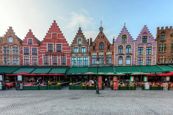 Town Square Wall Art - Photograph - Brugge - Belgium by Joana Kruse