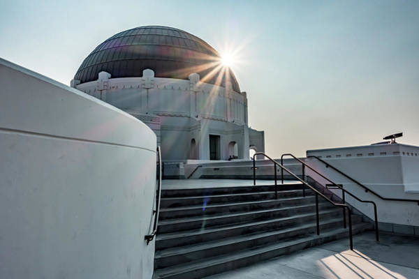 Photograph - Famous Griffith Observatory In Los Angeles California by Alex Grichenko
