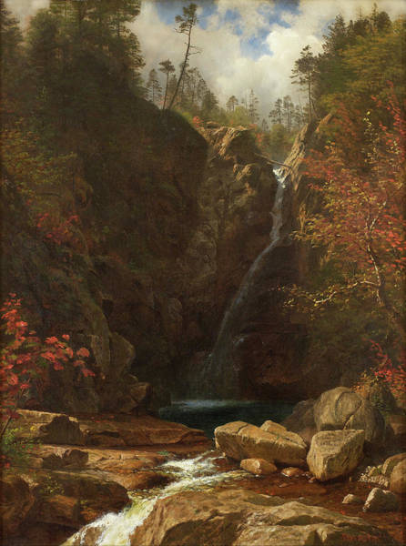 Painting - Glen Ellis Falls by Albert Bierstadt