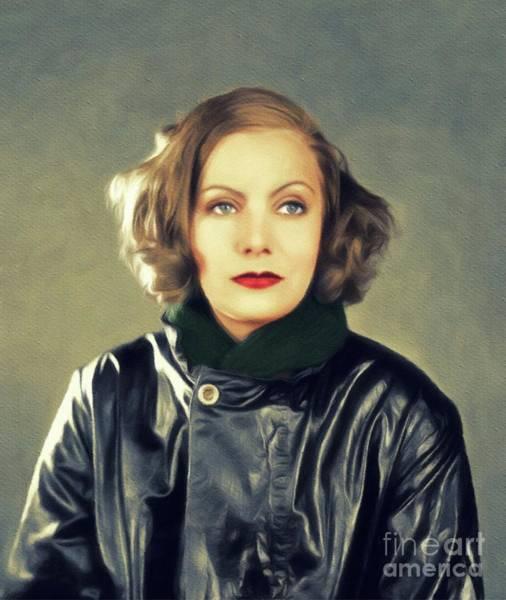 Wall Art - Painting - Greta Garbo, Vintage Movie Star by John Springfield