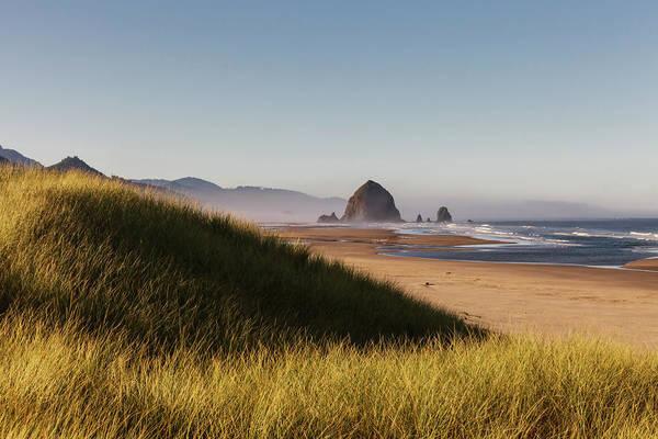 Oregon Dunes Photograph - Haystack Rock Seen From Dunes by Sawaya Photography