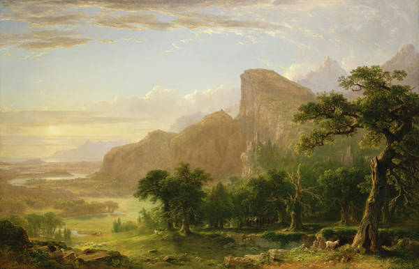 Wall Art - Painting - Landscape, Scene From Thanatopsis by Asher Brown Durand