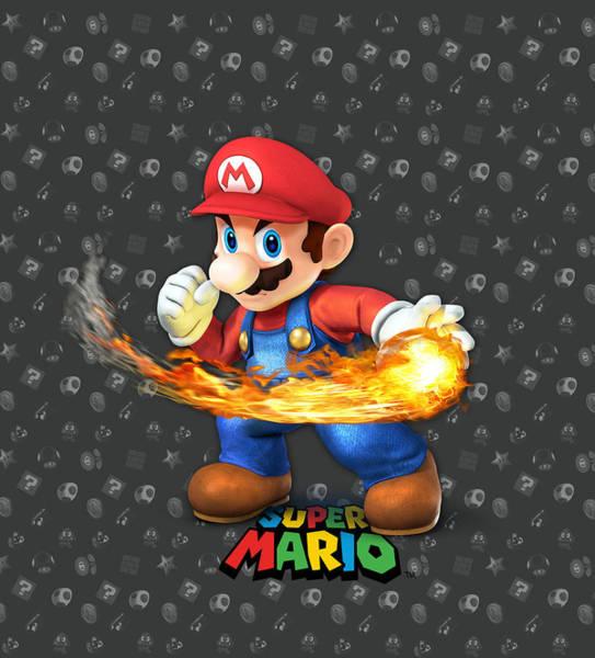 Wall Art - Digital Art - Mario by Geek N Rock
