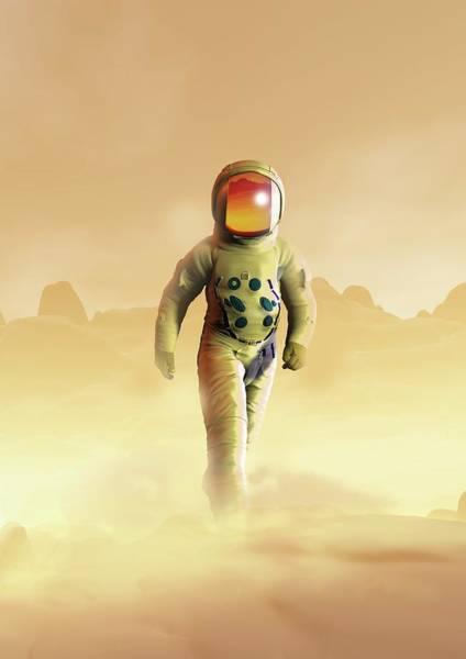 Space Exploration Digital Art - Mars Exploration, Artwork by Victor Habbick Visions