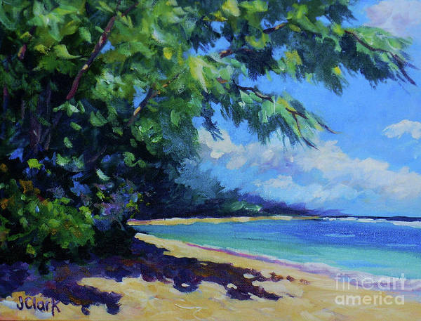 Trinidad Wall Art - Painting - 7-mile Beach by John Clark