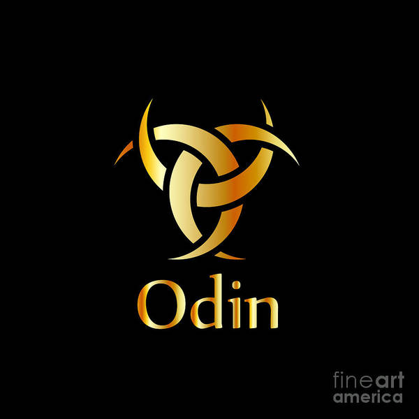 Satanism Digital Art - Odin- The Graphic Is A Symbol Of The Horns Of Odin, A Satanist Symbol  by Shawlin
