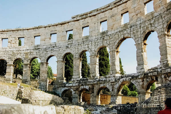 Photograph - Roman Amphitheater In Pula, The B by Joaquin Corbalan