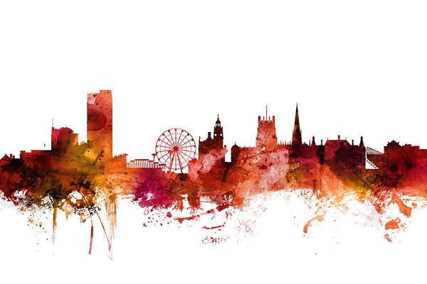 Wall Art - Digital Art - Sheffield England Skyline by Michael Tompsett