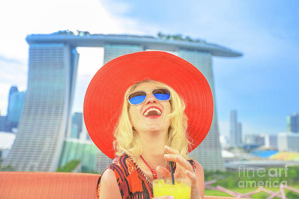 Photograph - Singapore Woman Aperitif by Benny Marty