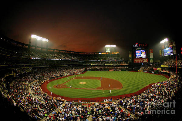 Photograph - St. Louis Cardinals V New York Mets by Al Bello