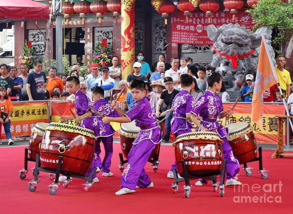 Photograph - Taiwan Student Percussion Group by Yali Shi