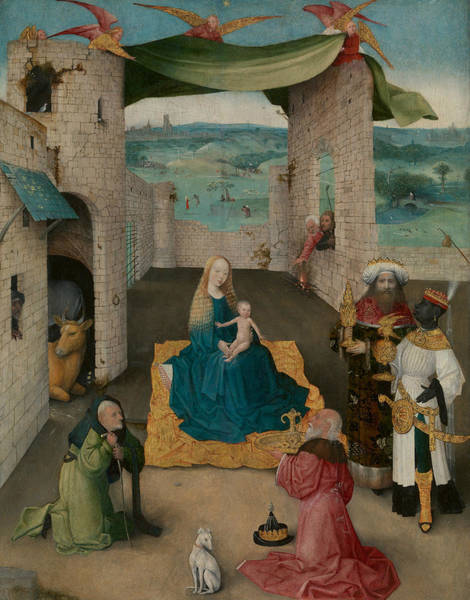 Wall Art - Painting - The Adoration Of The Magi by Hieronymus Bosch