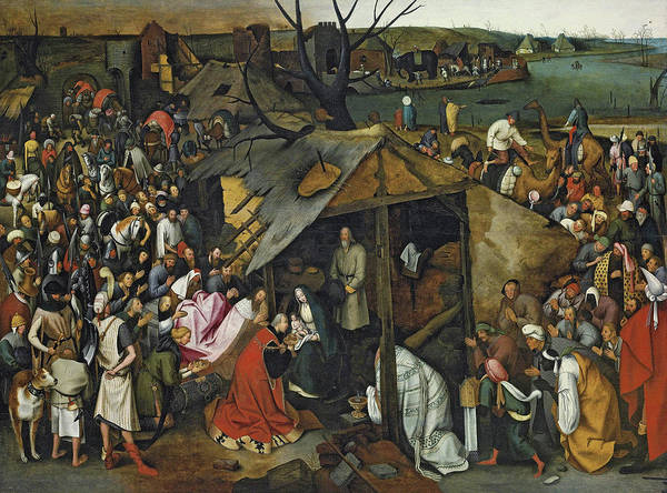 Wall Art - Painting - The Adoration Of The Magi by Pieter Brueghel the Younger