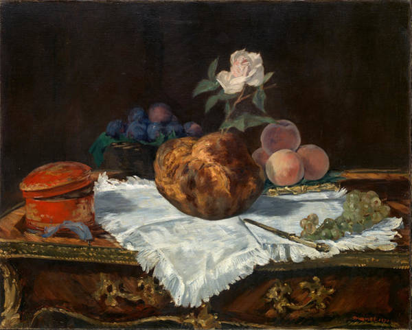 Painting - The Brioche by Edouard Manet