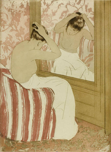 Wall Art - Relief - The Coiffure by Mary Cassatt