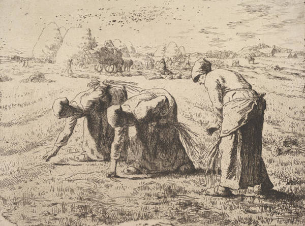 Relief - The Gleaners by Jean-Francois Millet