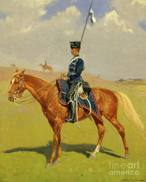Wall Art - Painting - The Hussar by Frederic Remington