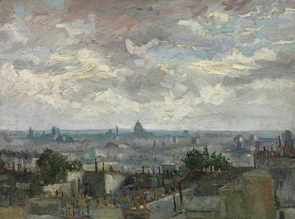 Wall Art - Painting - View Of Paris by Vincent van Gogh