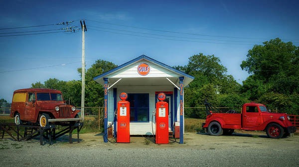 Wall Art - Photograph - Vintage Gas Station by Mountain Dreams
