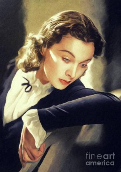 Wall Art - Painting - Vivien Leigh, Hollywood Legend by John Springfield
