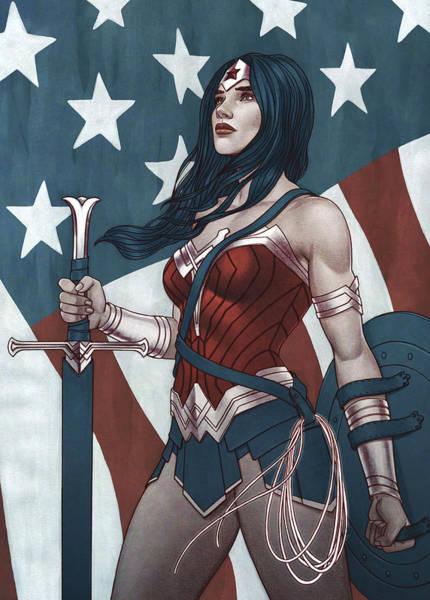 Robin Digital Art - Wonder Woman by Geek N Rock