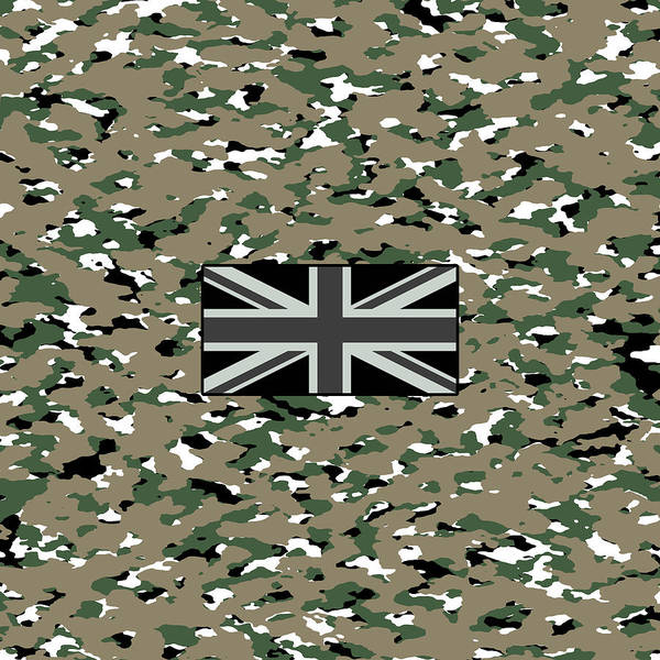Wall Art - Digital Art - Woodland Camouflage Pattern by Jared Davies