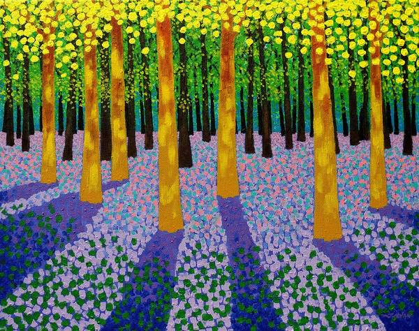 Wall Art - Painting - 7 Yellow Trees  by John  Nolan