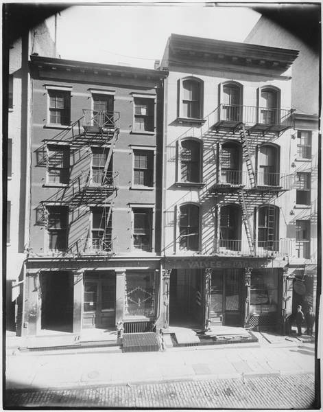 Photograph Photograph - 71-75 John Street by The New York Historical Society