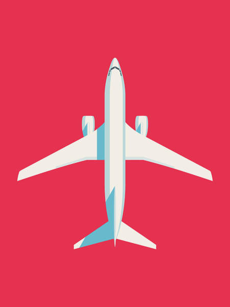 Wall Art - Digital Art - 737 Passenger Jet Airliner Aircraft - Crimson by Ivan Krpan